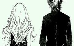 情侣黑白图像