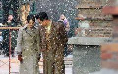 下雪的图片情侣