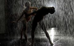 雨中跳舞图片唯美