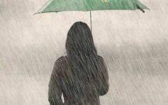 雨中背影唯美图片