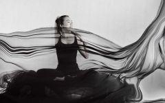 瑜伽唯美图片黑白图