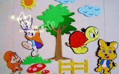 幼儿园墙上绘画图片