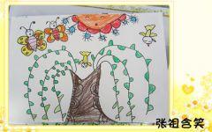 幼儿园绘画春天来了