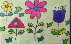 幼儿园绘画春天的花