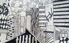 城市线描画