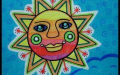 儿童植物画