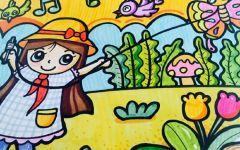风筝儿童画