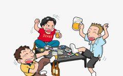 喝酒图片卡通