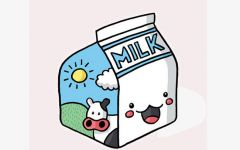动漫牛奶图片