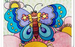 儿童画蝴蝶图片