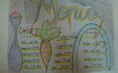 儿童画菜谱图片