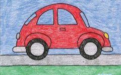 车的绘画图片