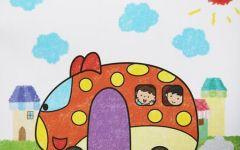 汽车的绘画图片