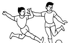 画踢足球的人