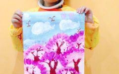 樱花创意画儿童