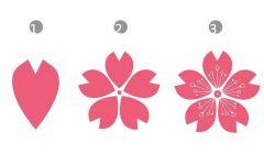 樱花粘贴创意画