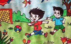 儿童足球画