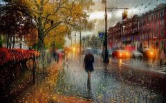 雨景浪漫图片