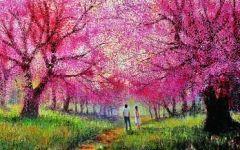 浪漫的绘画樱花