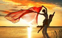 浪漫风景图情侣