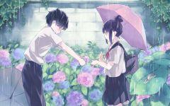 下雨唯美动漫图