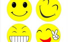 卡通微笑表情图
