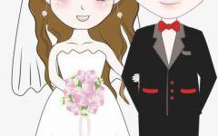 结婚卡通图片