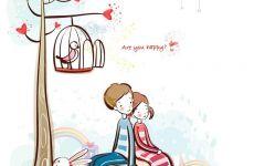情侣q版图画