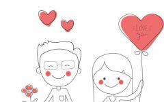 爱情图片画画