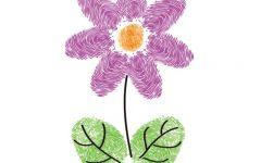 手印画花朵
