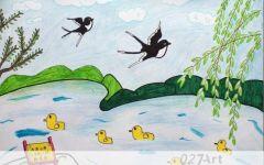 儿童柳树图画