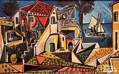 毕加索风景画