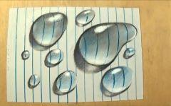 水滴的立体画
