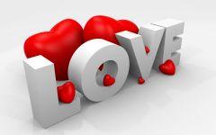love字母立体画