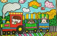 儿童火车画