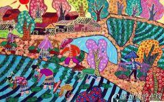 农村儿童画