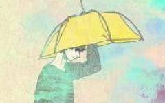 情侣头像打伞的
