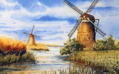 乡下景物绘画