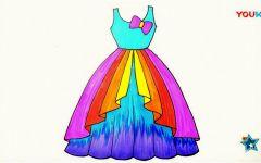 绘画简易公主裙