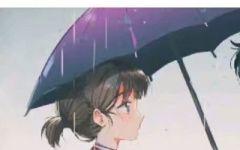 有伞的情侣头像