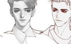 绘画男人物头像