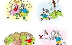 小地震图片卡通