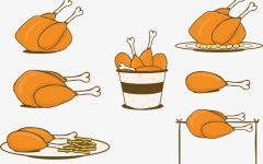 鸡腿图片卡通