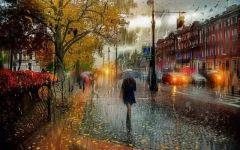 下雨图片伤感打伞
