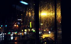 下雨夜景图片伤感