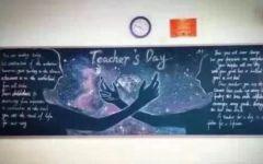 美到哭的黑板报粉笔画