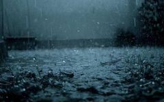 夜晚雨天伤感图片