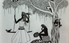 爱情绘画素描图片