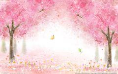 浪漫樱花图片背景