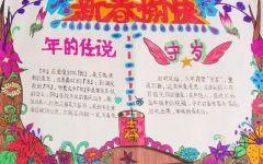 手抄报春节